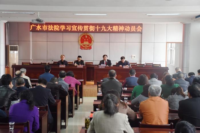 广水法院召开学习宣传贯彻十九大精神动员会